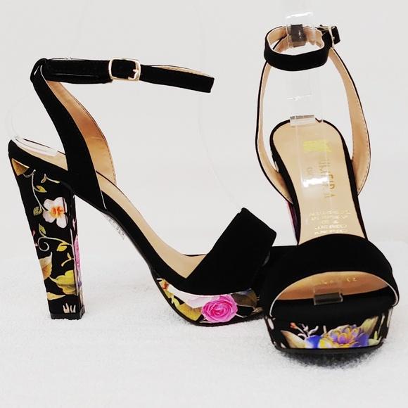 Shoes | Flower Patterned Platform Heels
